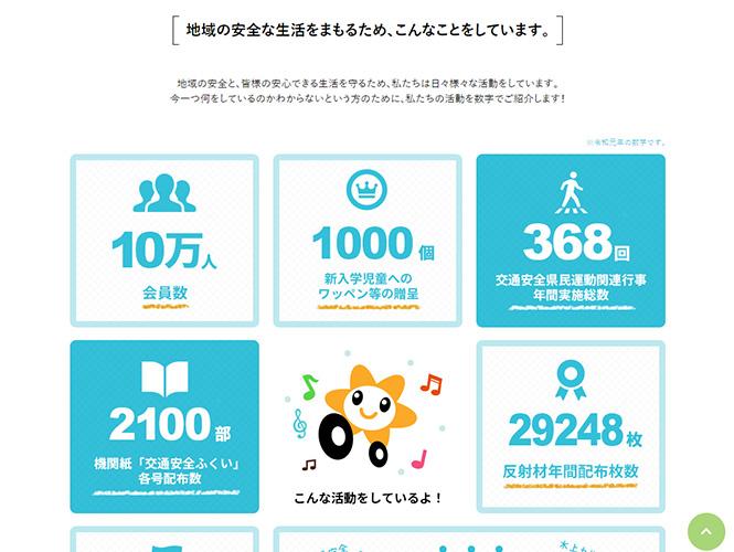 活動の発信を通し、地域の交通安全を守る。 福井県交通安全協会様