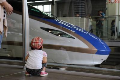 北陸新幹線と愛娘